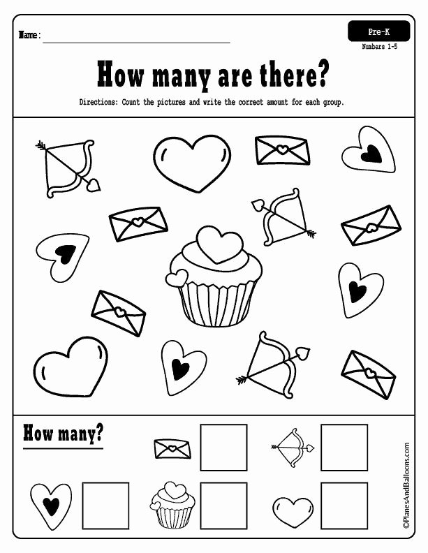 Valentine Day Math Worksheets for Preschoolers Fresh Fun Free Printable Valentine Worksheets for Preschool with