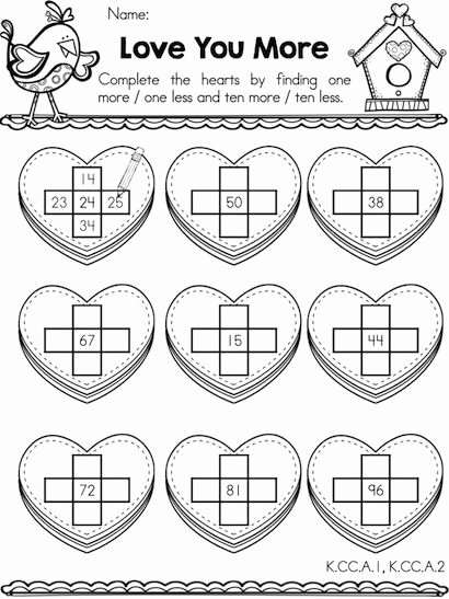 Valentine Day Math Worksheets for Preschoolers top Valentine Math Activities Kindergarten Worksheets Worksheet
