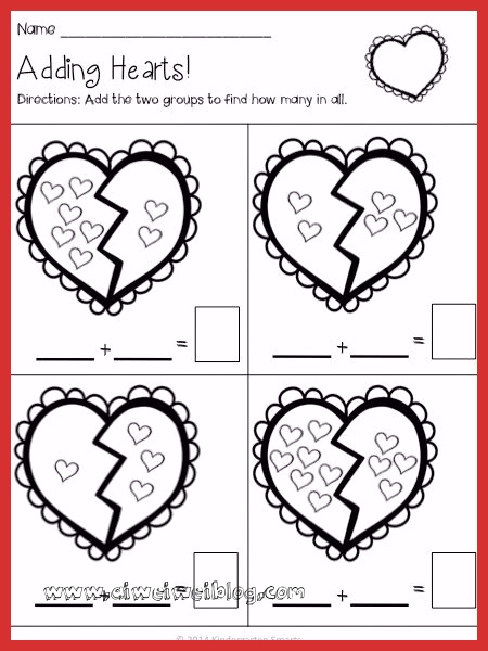Valentine Day Worksheets for Preschoolers Best Of Free Printable Valentine Kindergarten Worksheets Bundle