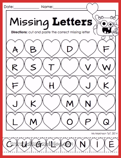 Valentine Day Worksheets for Preschoolers New February Printable Packet Kindergarten Literacy and Math