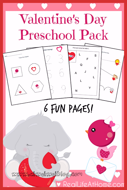 Valentine Day Worksheets for Preschoolers New Six Page Packet Valentine S Day Printables for Preschoolers