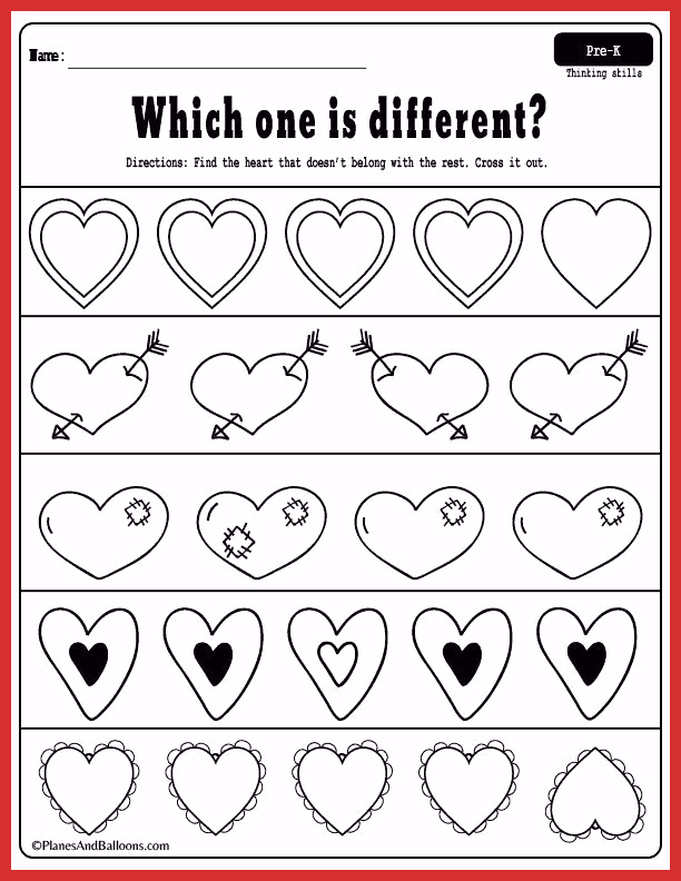 Valentine Day Worksheets for Preschoolers New Valenitine S Day Worksheets for Preschoolers Free
