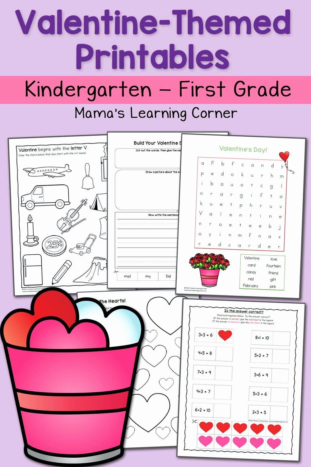 Valentine Worksheets for Preschoolers Fresh Valentine Worksheets for Kindergarten and First Grade