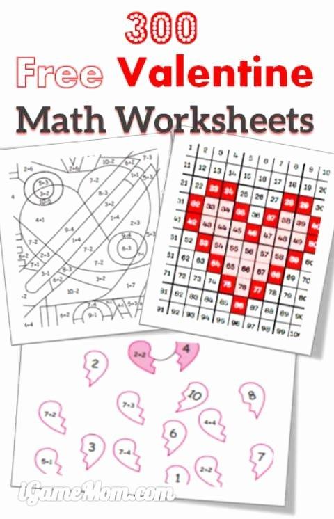 Valentine Worksheets for Preschoolers New 300 Kostenlose Valentine Math Arbeitsblätter Für Kinder