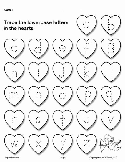 Valentine Worksheets for Preschoolers top Printable Valentine S Day Uppercase and Lowercase Alphabet