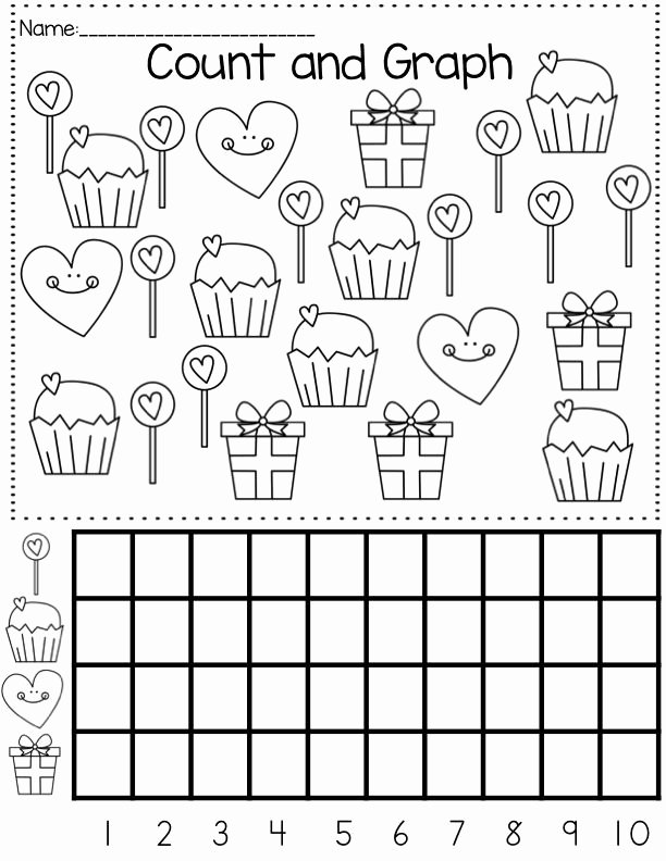 Valentine Worksheets for Preschoolers Unique Valentine S Day Graph