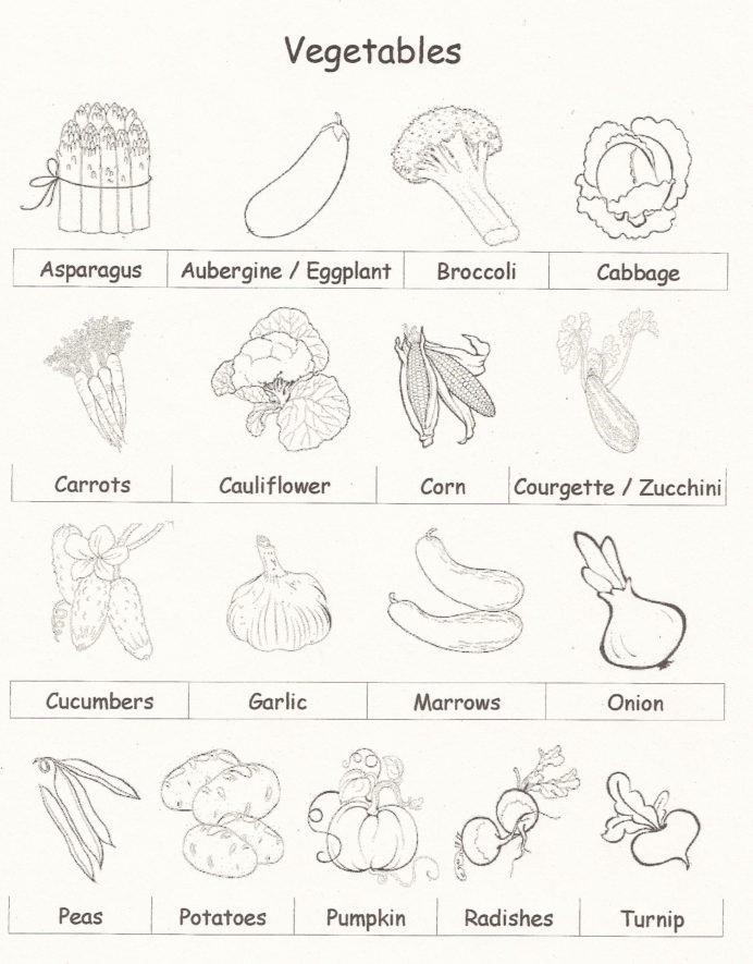 Vegetables Worksheets for Preschoolers Awesome Ve Able Language Worksheet Printable Worksheets and