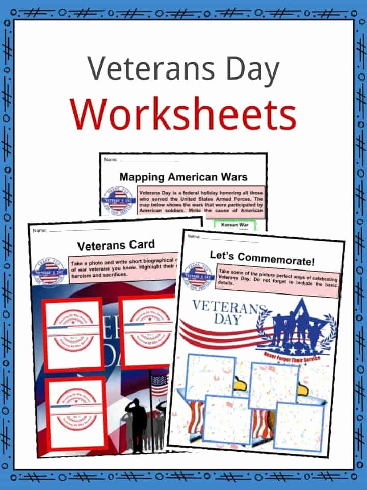 Veterans Day Worksheets for Preschoolers Lovely Veterans Day Facts Worksheets & Historical Information for