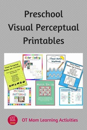 Visual Perception Worksheets for Preschoolers Best Of Visual Perception Printable Activities for Preschool