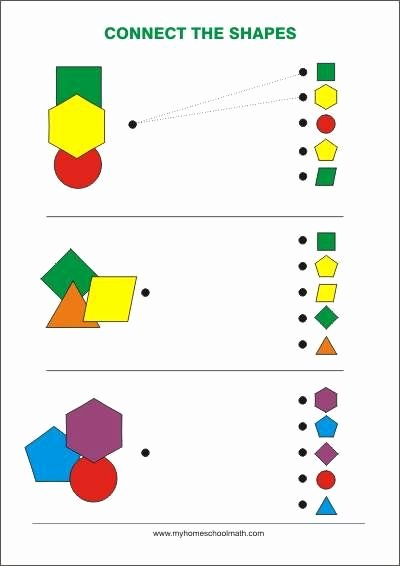Visual Perception Worksheets for Preschoolers Inspirational Connect the Shapes Free Printable Worksheet Figur