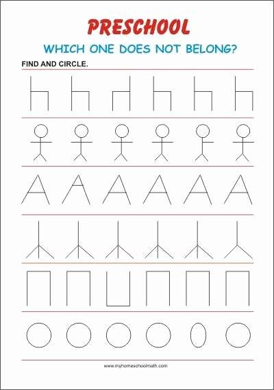 Visual Perception Worksheets for Preschoolers top Focus Preschool Worksheet In 2020