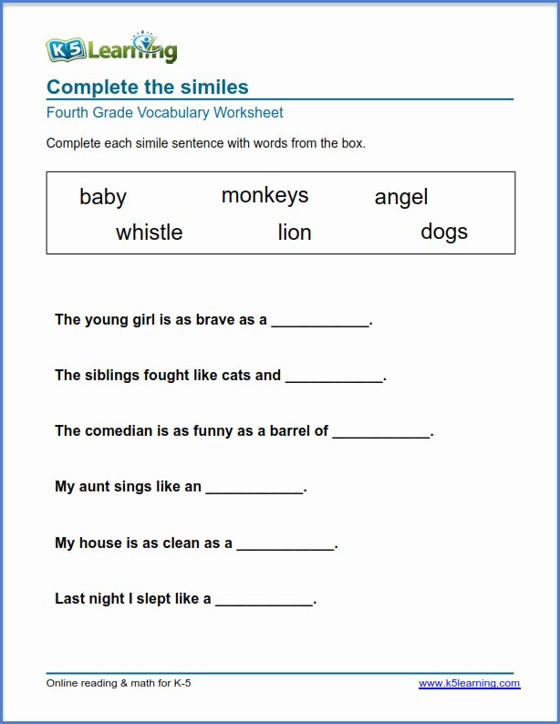 Vocabulary Worksheets for Preschoolers Inspirational Worksheet Grade Homeworkets Vocabulary Worksheets