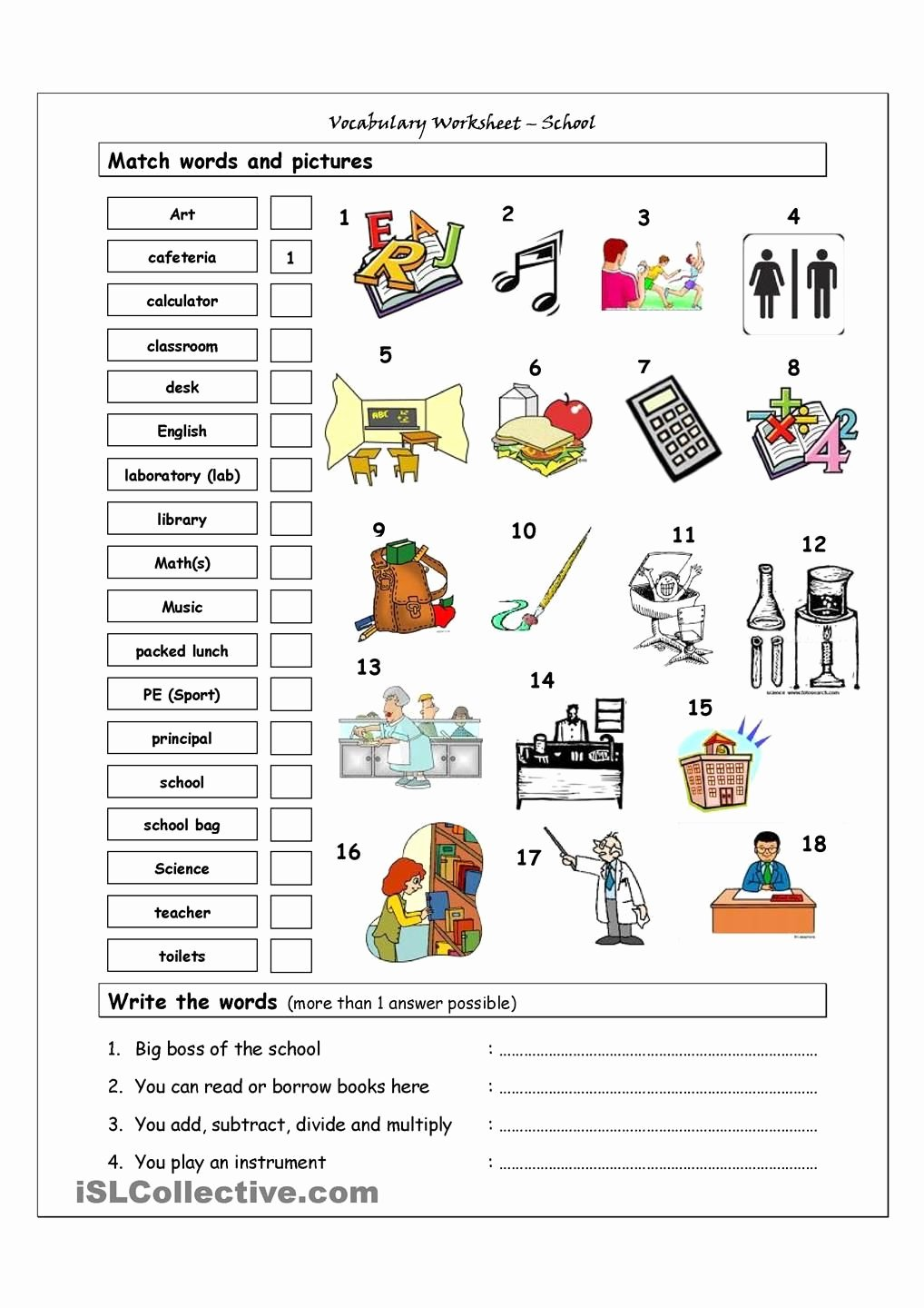 Vocabulary Worksheets for Preschoolers Unique Vocabulary Matching Worksheet School Academic Worksheets