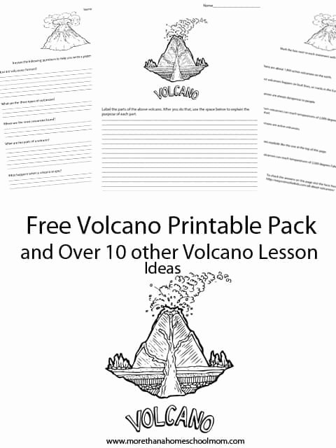 Volcano Worksheets for Preschoolers Best Of Learning About Volcanoes Free Printables and Resources