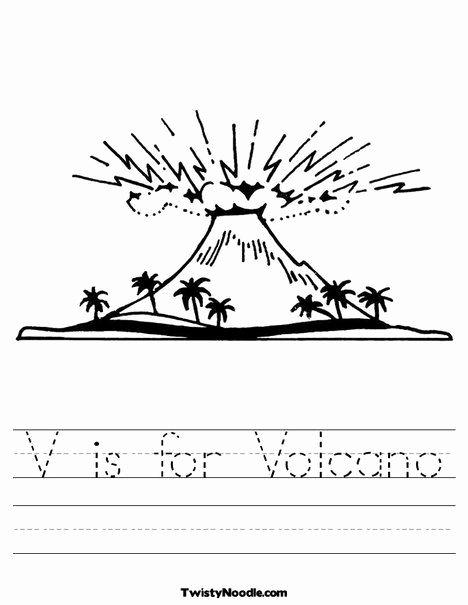 Volcano Worksheets for Preschoolers New V is for Volcano Worksheet