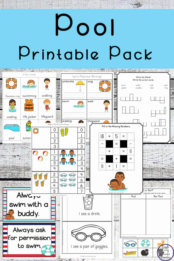 Water Safety Worksheets for Preschoolers Awesome Teaching Water Safety Plus Pool Printable Pack Simple