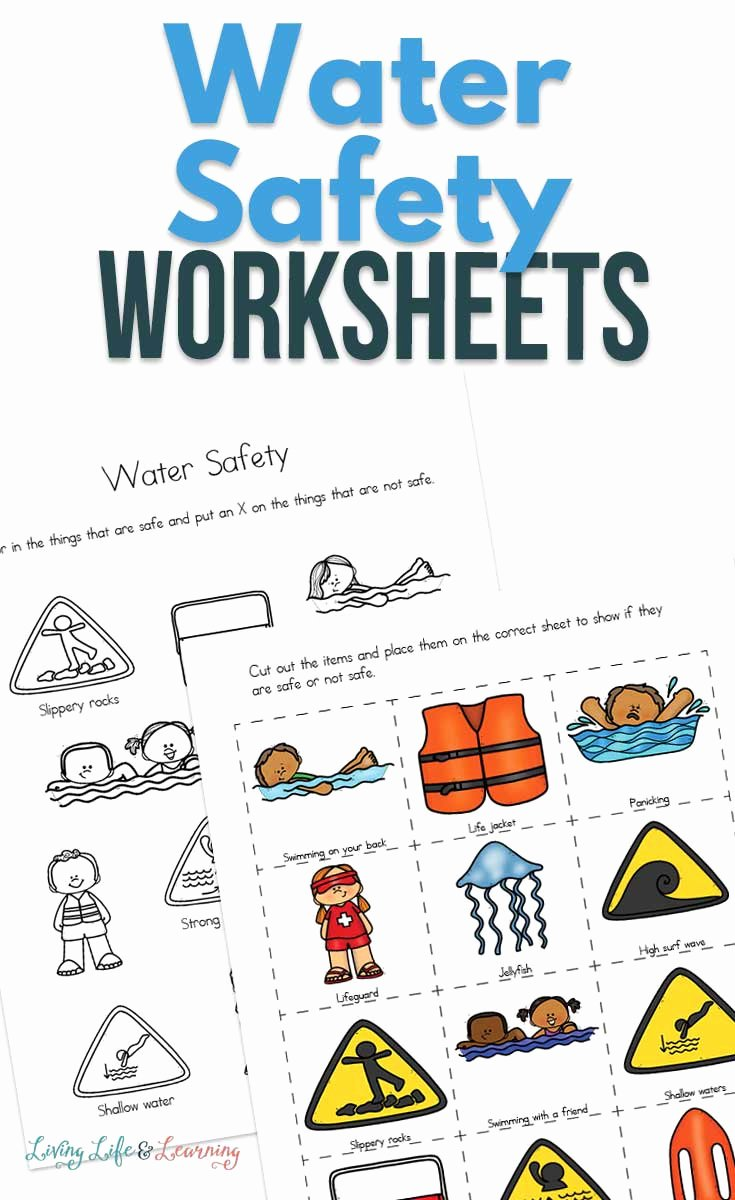 Water Safety Worksheets for Preschoolers Awesome Water Safety Worksheets for Kids