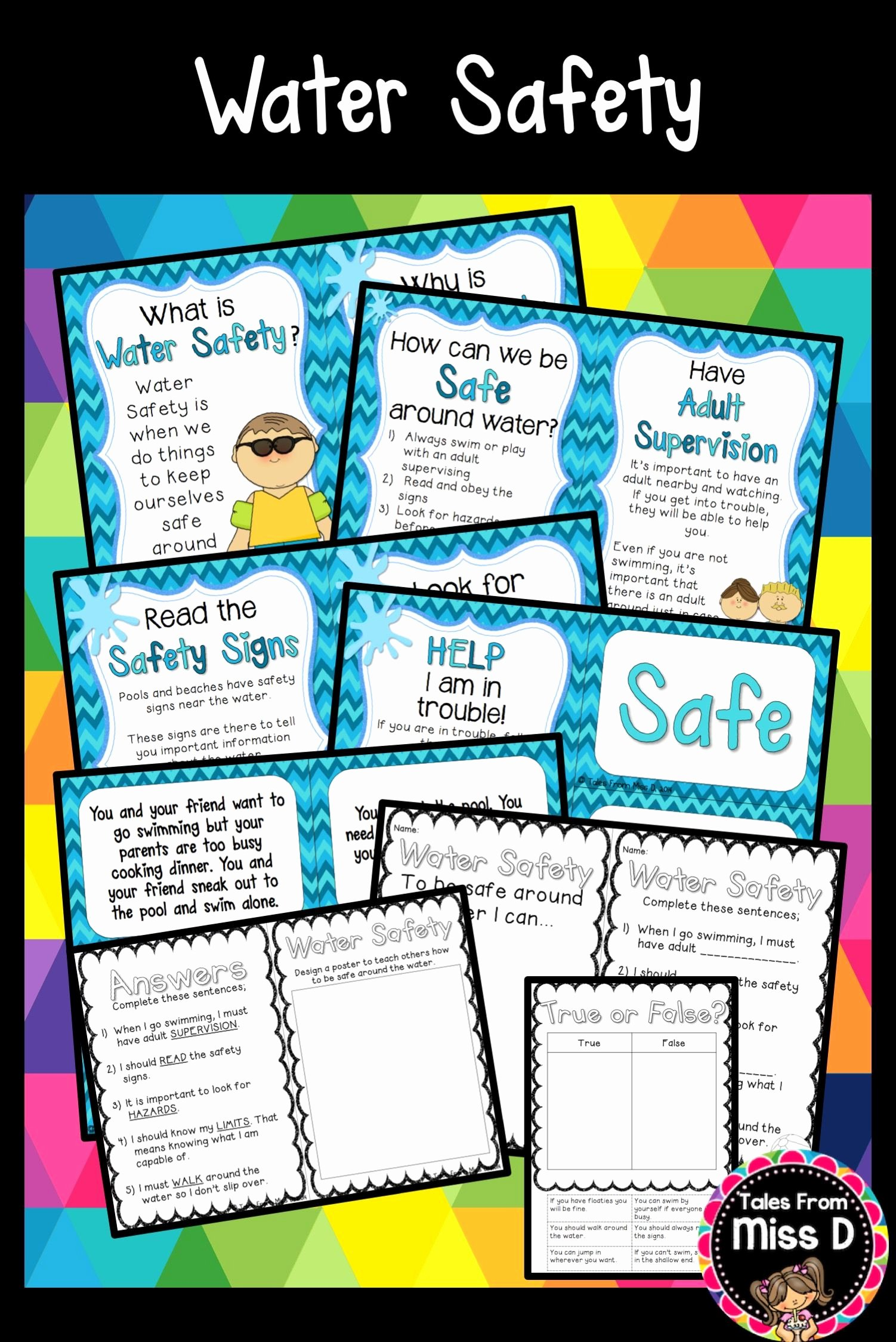 Water Safety Worksheets for Preschoolers Lovely Water Safety