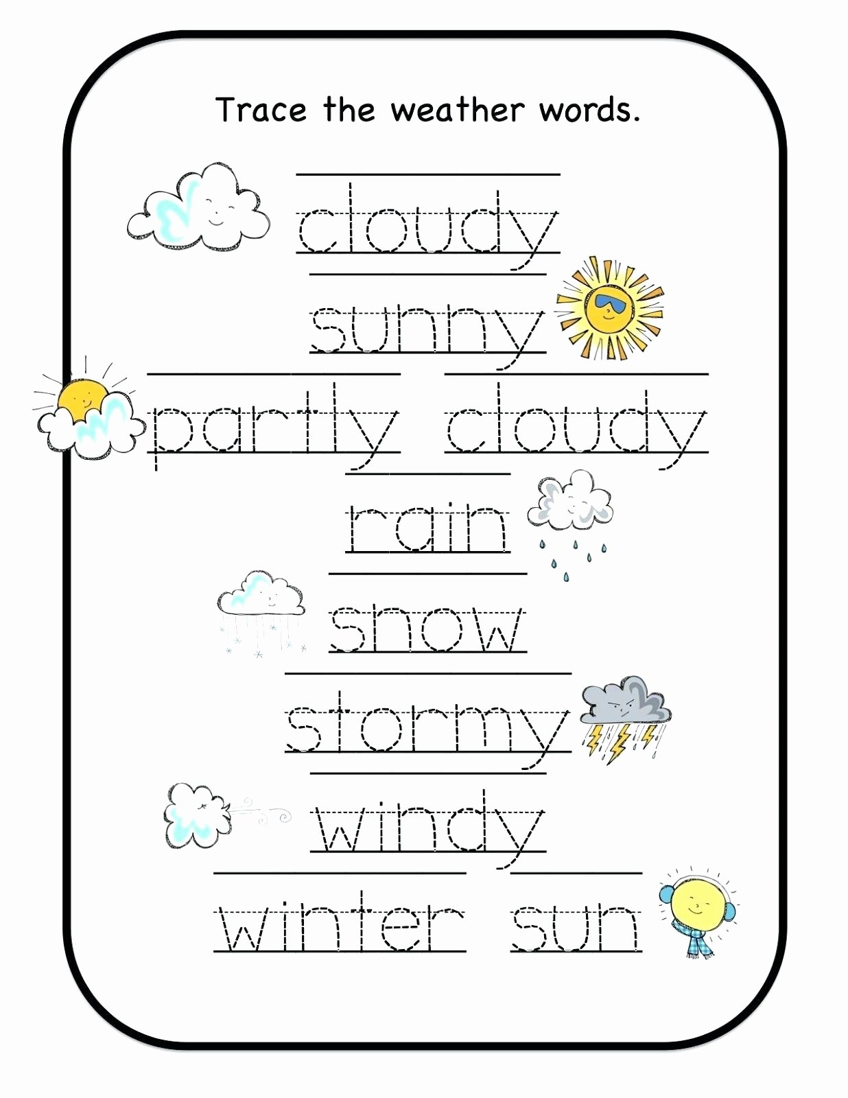 Weather Worksheets for Preschoolers Awesome Preschool Worksheets Weather – Lbwomen