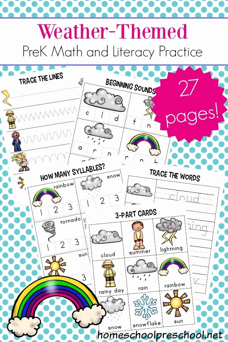 Weather Worksheets for Preschoolers Fresh Free Preschool Weather Worksheets