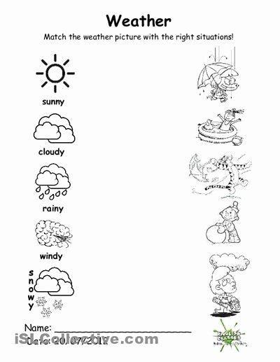 Weather Worksheets for Preschoolers Inspirational Weather Worksheets Preschool 1 Dengan Gambar