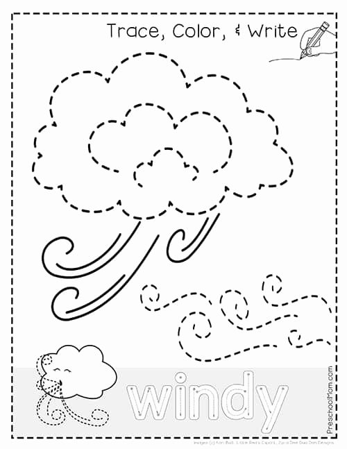 Weather Worksheets for Preschoolers New Weather Tracing Pages Preschool Mom