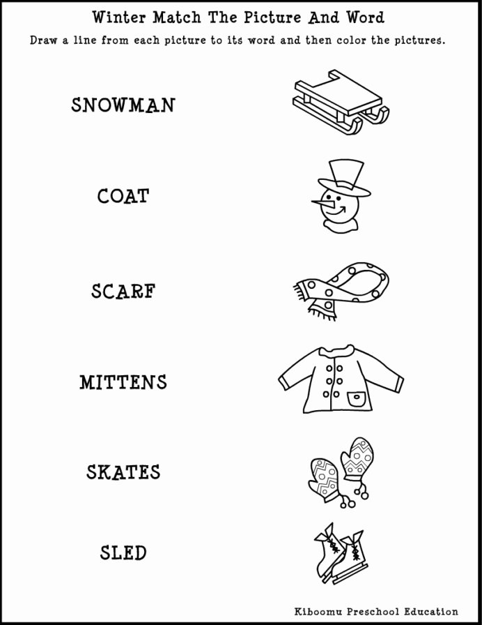 Winter Activities Worksheets for Preschoolers Unique Winter Worksheets for Preschool Schools Printable Free Art