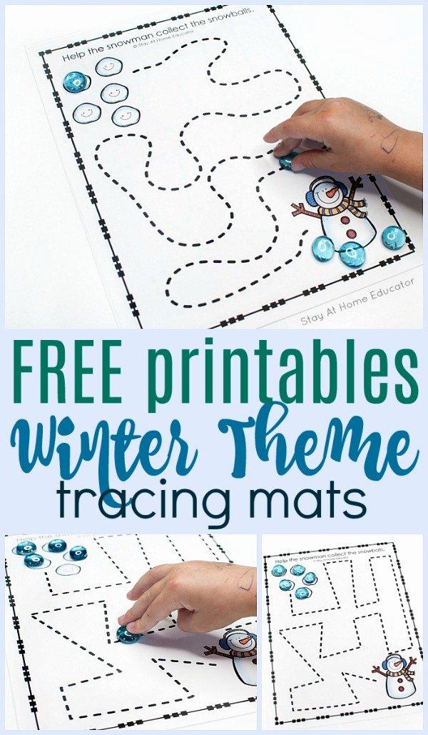 Winter Activity Worksheets for Preschoolers Unique Free Preschool Winter Printables for Pre Writing Practice