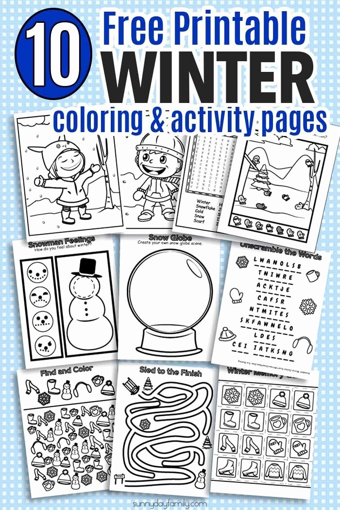 Winter Activity Worksheets for Preschoolers Unique Huge Pack Of Printable Winter Coloring Pages and Winter