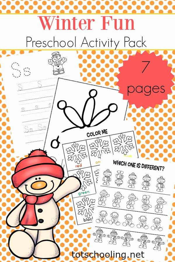 Winter Activity Worksheets for Preschoolers Unique Winter Mini Activity Pack for Pre K