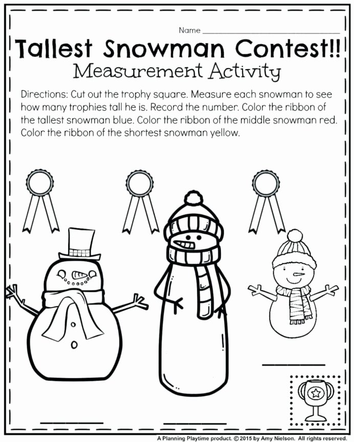 Winter Math Worksheets for Preschoolers Beautiful Winter Math Worksheets Preschool Schools Printable