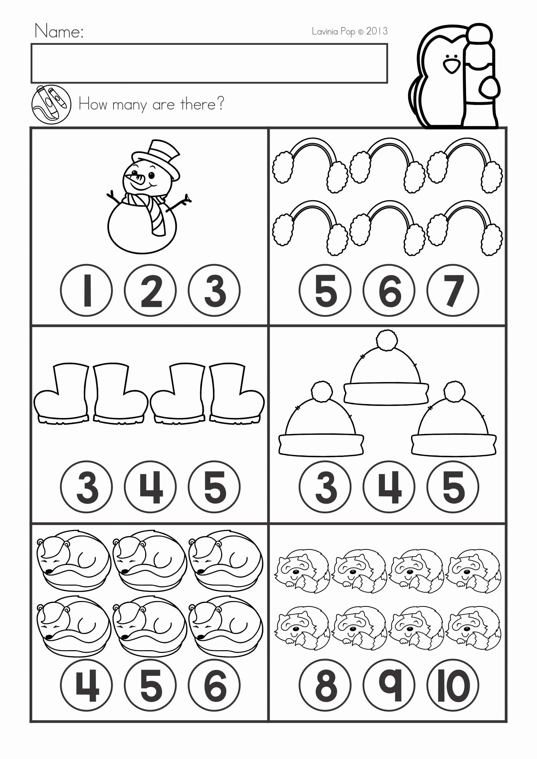 Winter Math Worksheets for Preschoolers Best Of Winter Math Worksheets & Activities No Prep for Kindergarten