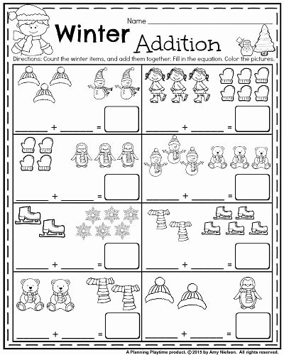 Winter Math Worksheets for Preschoolers Inspirational January Kindergarten Worksheets