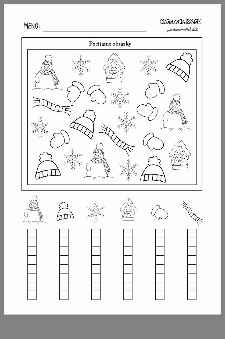 Winter Math Worksheets for Preschoolers Inspirational Winter Mathe Winter