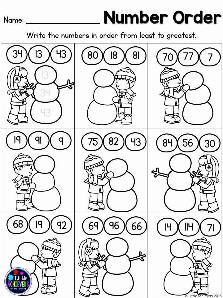 Winter Math Worksheets for Preschoolers Lovely Winter Math Worksheets First Grade