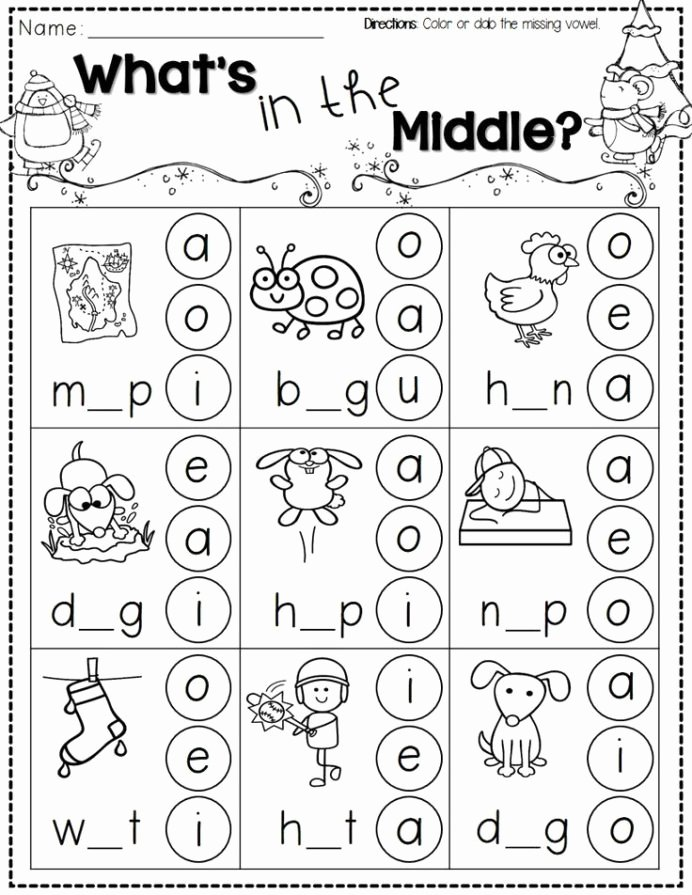 Winter Math Worksheets for Preschoolers top Winter Activities for Kindergarten Free Phonics themed