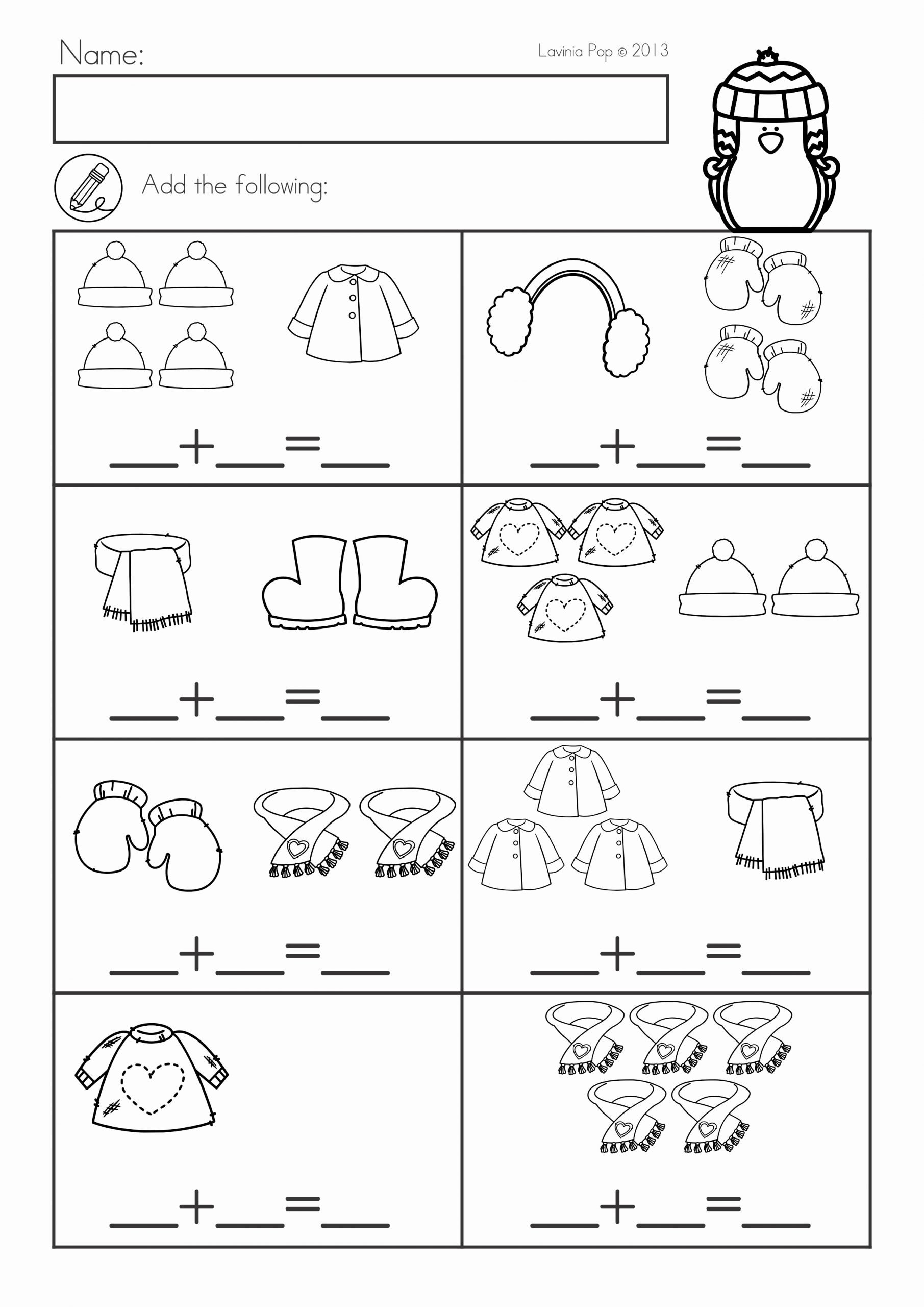 Winter Math Worksheets for Preschoolers top Winter Math Worksheets & Activities No Prep for Kindergarten