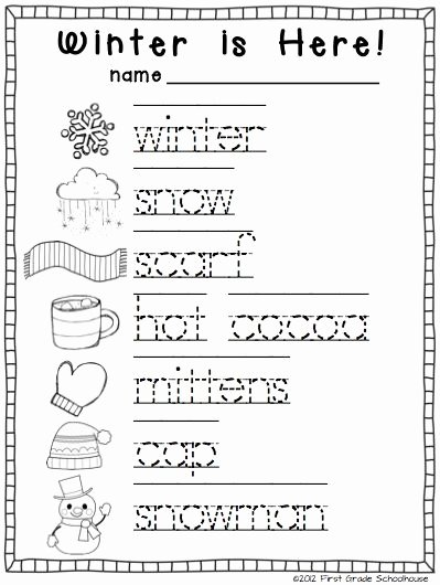 Winter Worksheets for Preschoolers Awesome Winter Writing for Kinders