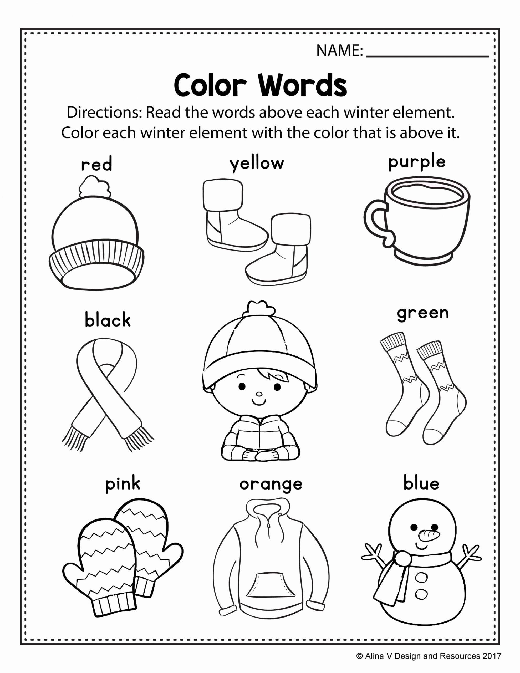 Winter Worksheets for Preschoolers Fresh Alinavdesign