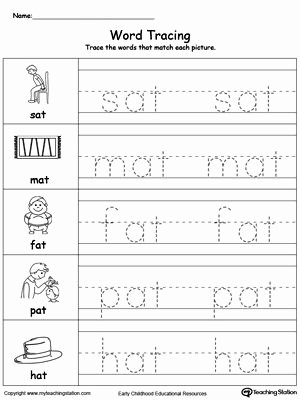 Word Tracing Worksheets for Preschoolers Beautiful Word Tracing at Words