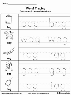 Word Tracing Worksheets for Preschoolers Beautiful Worksheet Worksheet Stunningate Tracing Worksheets Word Ag