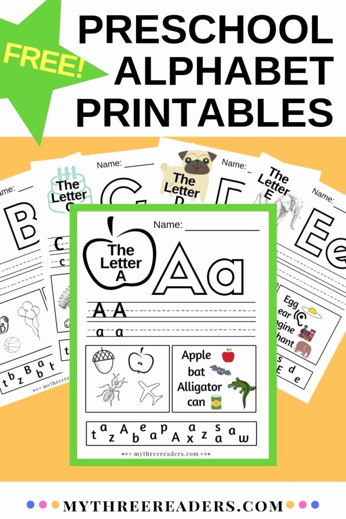 Worksheets for Preschoolers Alphabet New Alphabet Worksheets Printables for Preschool Printable 4th
