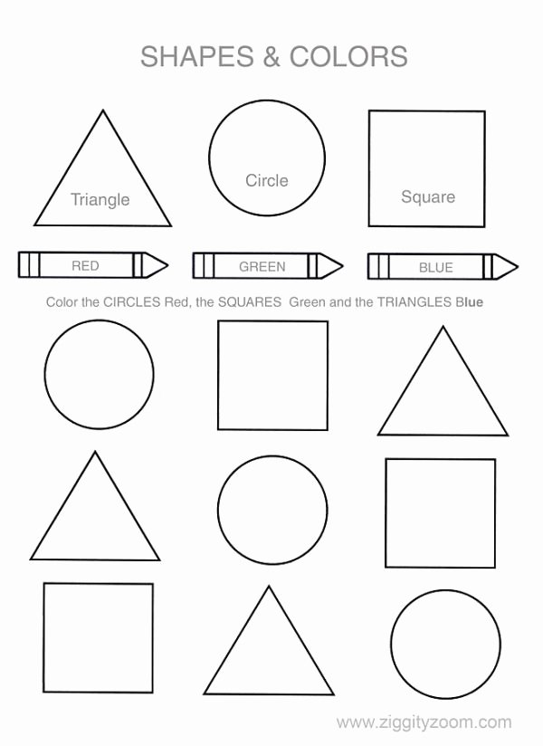 Worksheets for Preschoolers Colors Best Of Shapes & Colors Worksheet