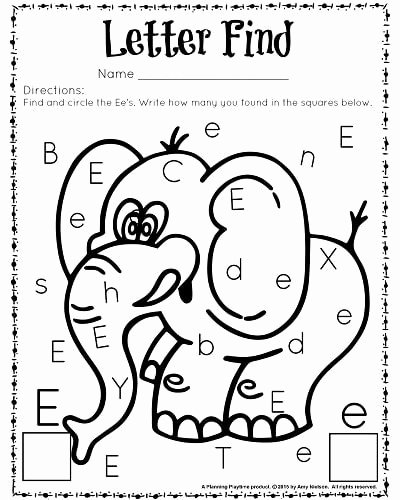 Worksheets for Preschoolers Letters Best Of Cute Letter Find Worksheets with A Freebie Planning