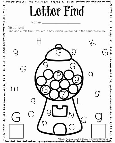 Worksheets for Preschoolers Letters top Cute Letter Find Worksheets with A Freebie Planning