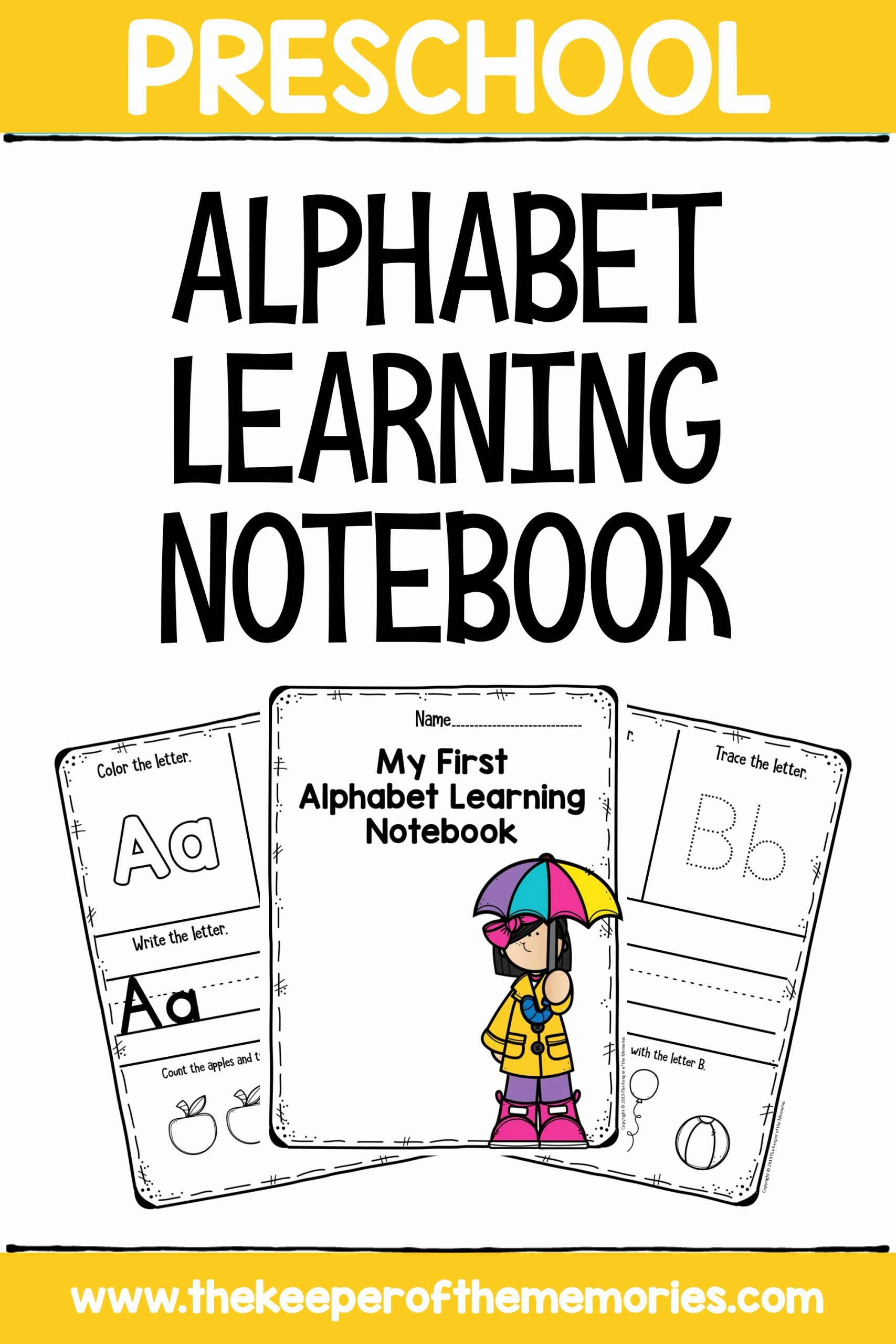 Worksheets for Preschoolers Letters top My First Alphabet Notebook Letters Preschool Worksheets