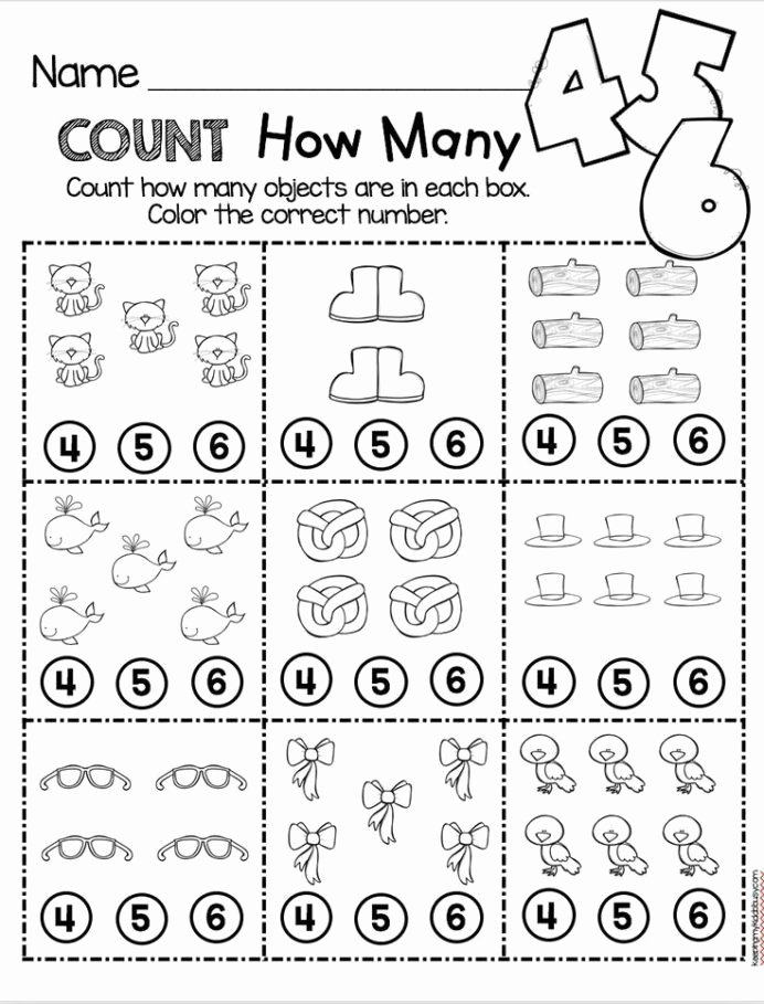 Worksheets for Preschoolers Math Best Of Counting and Cardinality Freebies Preschool Math Worksheets