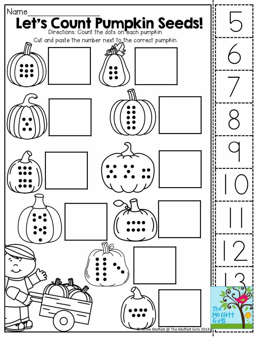 Worksheets for Preschoolers Math Inspirational Pin On October