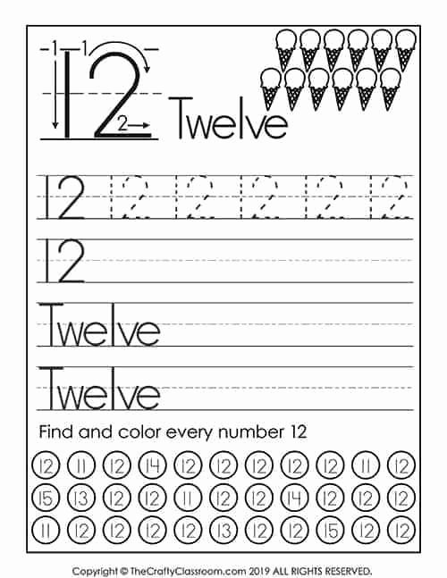 Worksheets for Preschoolers Numbers Best Of Preschool Number Worksheets Mom for 1st Grade Math