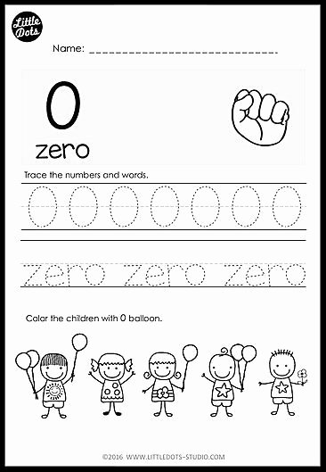 Worksheets for Preschoolers Numbers top Kindergarten Numbers 0 to 20 Worksheets and Activities